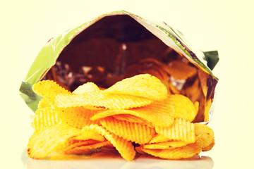 Tasty but unhealthy potatoe chips.