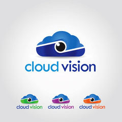 Cloud Vision Logo Design Concept