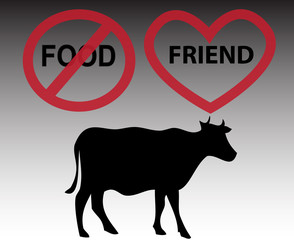Cow is friend, not food