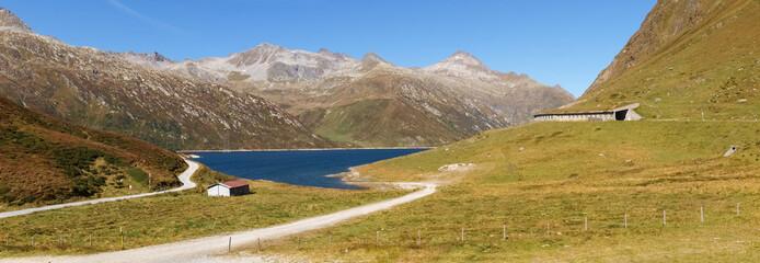 Swiss Alps, lake of Lukomanier pass