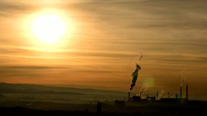 güneş doğarken çevre kirliliği
