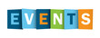 EVENTS icon (word calendar coming up corporate) - 79340136