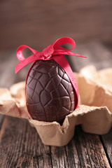 easter egg and red bow