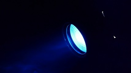 Stage lights - film spotlights - light show - music club