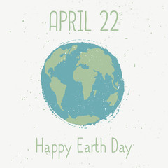 Earth Day Typographic Design