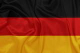 Germany - Waving national flag on silk texture