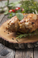 Stuffed oven chicken breast