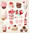 Colorful valentine food - 79342553
