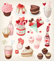 Colorful valentine food