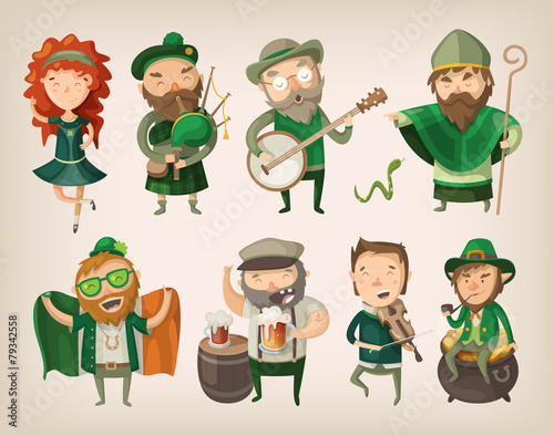 Set of irish characters. - 79342558