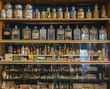 Leinwanddruck Bild - Empty scent bottles in old pharmacy