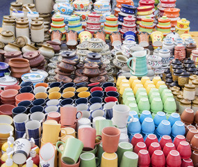 Ceramic cups on sale