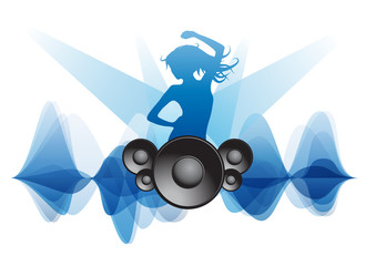 Music party background
