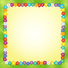 Frame with flower theme 7