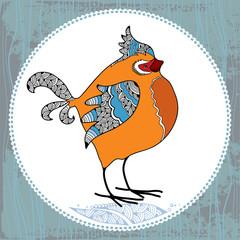 Нand drawn bullfinch. Vector illustration