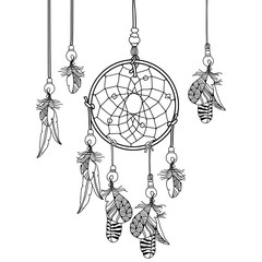 Нand drawn Indian Dream catcher