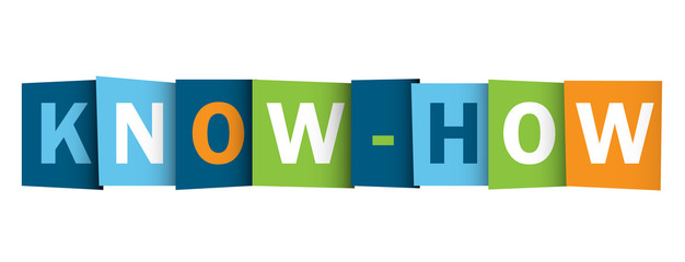 """""""KNOW-HOW"""" Letter Collage (professional knowledge expertise)"""
