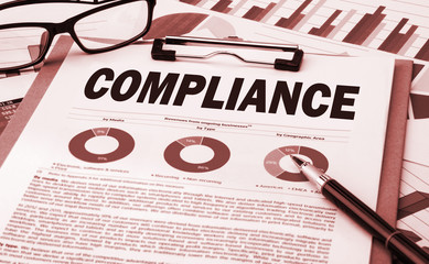 compliance concept with financial chart