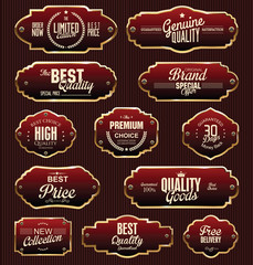 Metal plates premium quality gold and red collection