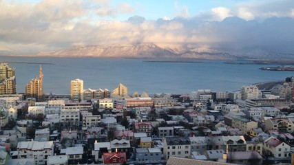 Reykjavik in Iceland from Above