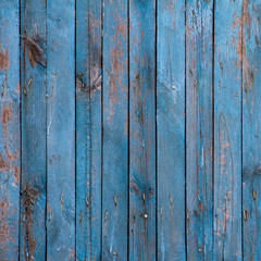 old plank blue wood textured