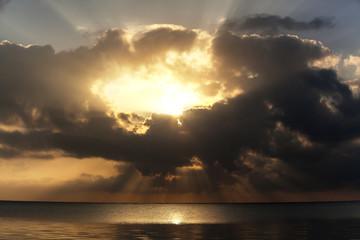 sunrise, landscape, morning ocean, vacation, travel