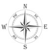 ancient wind rose vector illustration
