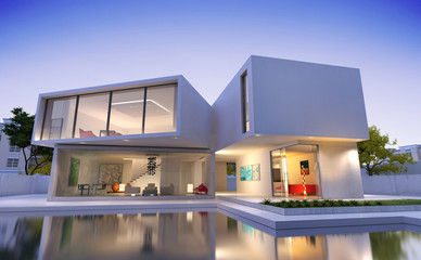 Contemporary Asian house with pool2