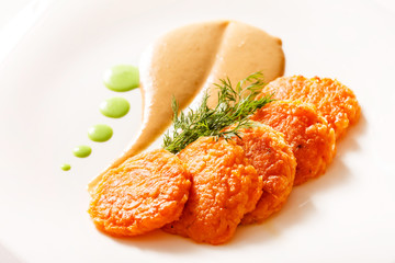 Fritters with vegetables