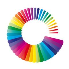 Farbkreis mit leuchtenden Farben