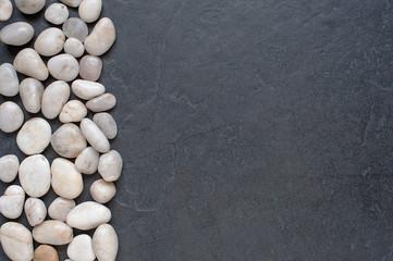 Stones on a dark background
