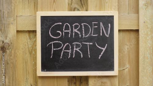 Garden party written