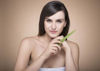 beauty portrait of female