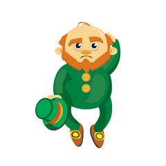 Leprechaun in a green suit