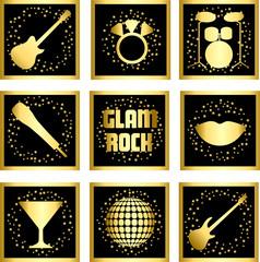 GlamRock  Gold  square