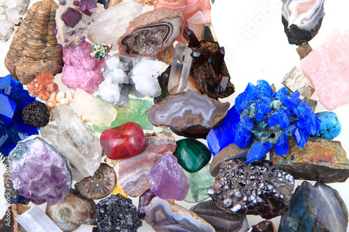 Fotobehang Edelsteen color minerals and gems collection
