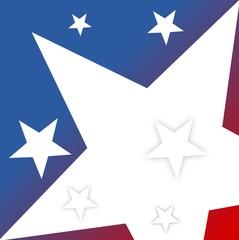 US flag star  - Illustration
