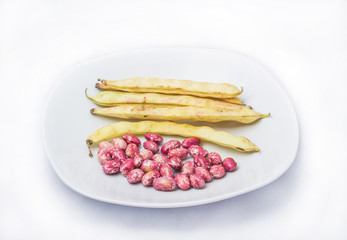 fréjoles en un plato