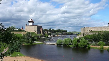 view of Narva and Ivangorod fortress