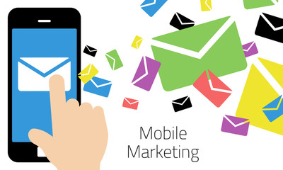 Mobile Marketing - Smart Phone Sending Emails