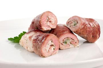 involtini di carne con aglio