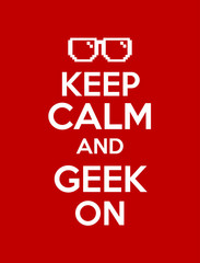 keep calm geek red