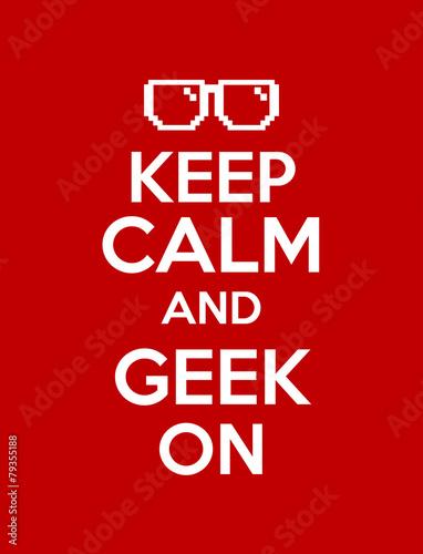 keep calm geek red Plakát