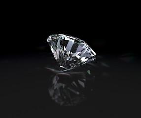 Diamond on a black background
