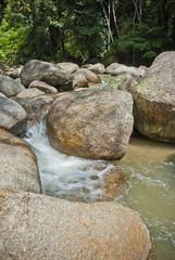 Naturally undeveloped river in Bentong, Pahang, Malaysia