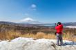 panorama view point Fujisan Yamanaka Lake