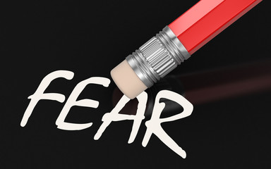 Erase Fear (clipping path included)