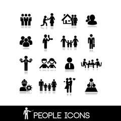 People icon. Set vectors 4.