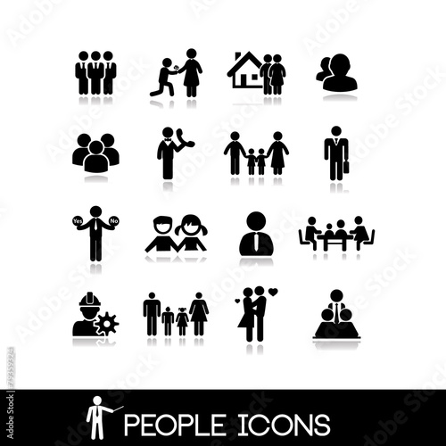 People icon. Set vectors 4. poster