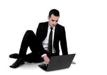 Business man using computer